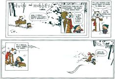 The last Calvin and Hobbes strip.