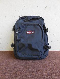 77fd1c3e53 Vintage Eastpak Navy Blue Backpack Made in USA by VindicoShop Designer  Backpacks