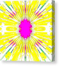 Abstract Canvas Print featuring the digital art True Pastel by Caroline Gilmore