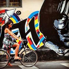 Friday #StreetArt!!! Cycling in Reggio Emilia! #italy loveandroad.com