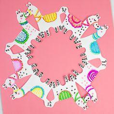 Fa La La Llama Paper Snowflakes | Pink Stripey Socks