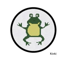 Cross Stitch Pattern Funny Frog Instant Download by TinyNeedle