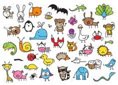 doodle animals - Google Search