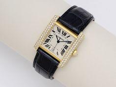 [Addendum] A Diamond and Gold 'Tank Française' Wristwatch, Cartier