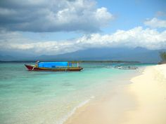 Gili Meno off Lombok Island, Indonesia.  There are no cars on this tiny island, just a dirt path serviced by a handful of horsedrawn cidomo, and everything about it oozes paradise.