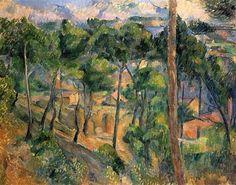 1883 L'Estaque, vista a través de los pinos