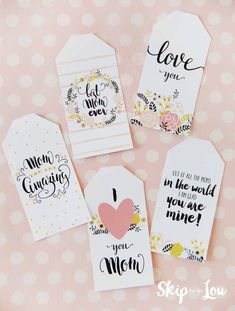 free printable mothers day tags
