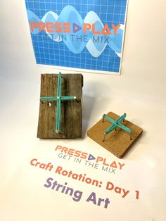 Vbs Crafts, Vacation Bible School, String Art, Art Day, Place Cards, Place Card Holders, Play, Fiber Art, Sunday School