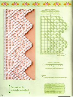 Find Great Deals For 3 Meters Vintage Em - Diy Crafts - Marecipe Filet Crochet, Baby Afghan Crochet, Bead Crochet, Crochet Motif, Crochet Flowers, Crochet Lace, Crochet Stitches, Crochet Border Patterns, Crochet Designs