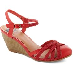 BC Shoes Don't Worry, Be Strappy Wedge in Orchard