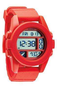 Nixon 'The Unit' Round Digital Watch