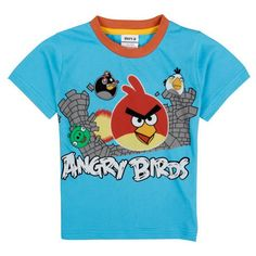 Angry Birds Little Boys Summer Short Sleeve Animal Printing Pure Cotton Tees T Shirts,Light.Blue,5-6Y. Size : Height: 18-24M: 36.2inch; 2-3Y: 38.6inch; 3-4Y: 40.9inch; 4-5Y: 43.3inch; 5-6Y: 45.7inch; 6-7Y: 49.3inch; 7-8Y: 53.2inch; 8-9Y: 57.1inch. Products use natural cotton, silk, animal hair comfortable fabric, all of the printing and dye use active environmental protection dye to ensure every clothing can give children natural healthy care. Fabrics and accessories using natural...
