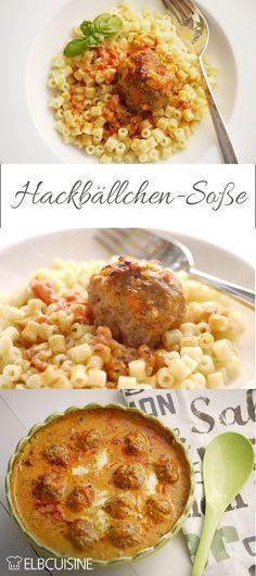 Hackbällchen-Alarm - Foodylicious :O - Crockpot Recipes Shrimp Recipes, Sauce Recipes, Pasta Recipes, Chicken Recipes, Crock Pot Recipes, Baby Food Recipes, Clean Eating Soup, Vegetarian Recipes, Healthy Recipes