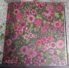 Here I Go Again: Pink flowers - Jo Willis colors a page from Johannesburg Basford's Secret Garden