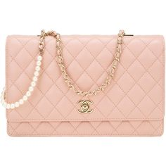 Pre-Owned Chanel Nude Lambskin Fantasy Pearls Large Evening Flap Bag ($5,225) ❤ liked on Polyvore featuring bags, handbags, chanel, beige, flap crossbody bag, beige purse, nude handbags, shoulder strap purses and chanel purse