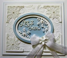 Hello and welcome back! The Peeking Snowflake die is unique in it design in that it cuts out the inside shape of the snowflakes. Christmas Card Crafts, Christmas 2015, All Things Christmas, Handmade Christmas, Christmas Cards, Christmas Ideas, Sue Wilson, Heartfelt Creations, Snowflake Cards