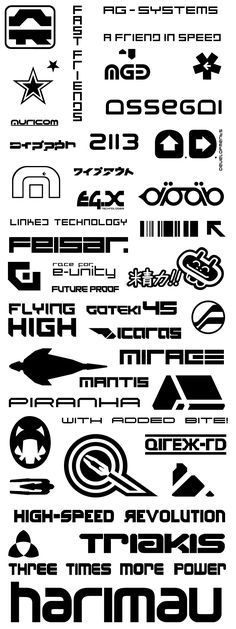 Some great team logos here from WipeOut