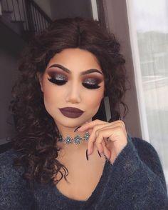 """53 k likerklikk, 154 kommentarer – ALINA (@makeupbyalinna) på Instagram: """"@morphebrushes 35N palette @hudabeauty Farrah lashes @kyliecosmetics Love bite on the lips…"""""""