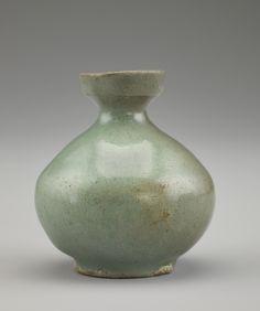 Bottle century Goryeo period Stoneware with celadon glaze H: W: cm Korea: Japanese Ceramics, Chinese Ceramics, Korean Art, Asian Art, Korean Pottery, Freer Gallery, Celadon, Art Web, Antique Stoneware