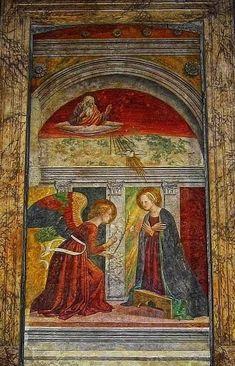 Annunciazione - Melozzo da Forlì (15° secolo) - Pantheon (Roma)