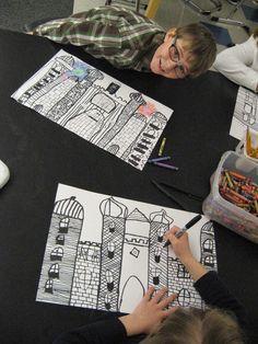 Jamestown Elementary Art Blog: 2nd Grade Castle Architecture