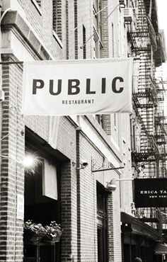 | PUBLIC | New York City Restaurant  and his fellow cocktail bar The Daily!  very cute idea