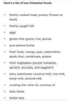 Low Histamine foods