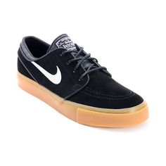 e812570191 The Nike Stefan Janoski suede skate shoe in the black and gum colorway are  ready to