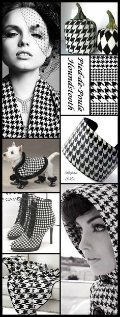 '' Pied-de-Poule/ Houndstooth '' by Reyhan S.D. Style Inspiration #moodboard