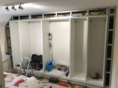 Built-in wardrobe made to fit old closet space - IKEA Hackers - Ikea DIY - The best IKEA hacks all in one place Ikea Built In Wardrobes, Diy Fitted Wardrobes, Bedroom Built In Wardrobe, Ikea Pax Wardrobe, Closet Built Ins, Diy Wardrobe, Master Bedroom Closet, Wardrobe Wall, Wardrobe Design