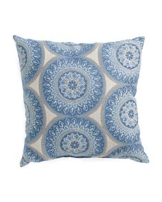18x18+Medallion+Patterned+Pillow