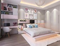 Teen bedroom designs - 121 fantastic small apartment bedroom college design ideas and decor page 34 Teen Bedroom Designs, Room Design Bedroom, Bedroom Decor For Teen Girls, Room Ideas Bedroom, Home Room Design, Small Room Bedroom, Home Decor Bedroom, Modern Bedroom, Cool Girl Bedrooms