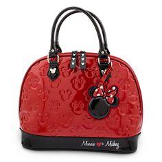 Your WDW Store - Disney Loungefly Satchel Bag - Embossed Patent Minnie Loves Mickey Disney Handbags, Disney Purse, Disney Disney, Disney Bound, Minnie Mouse Purse, Mickey Mouse, Cute Purses, Purses And Bags, Estilo Disney