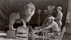 FILMING THE MGM OPENING CREDITS SEQUENCE IN 1928