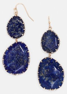 Lapis and gold drop earrings  http://rstyle.me/n/nxiaepdpe