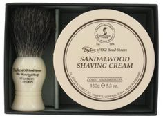 Shaving Gift Set, Badger Shaving Brush, Bond Street, Taylors, Shaving Cream, Hair Brush, Hairdresser, Personal Care, Gifts