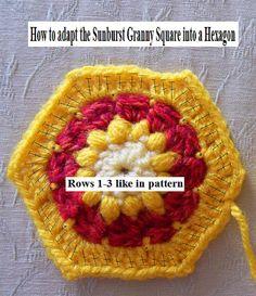 How to adapt the Sunburst Granny Square