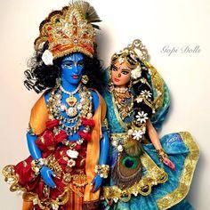 Sundari Gopi Dolls as Radha Krishna