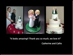 Gay Bride in Suit Wedding Cake Topper        Let's have a toast to some lovely women who we had the pleasure to create a customized topper for. They are a striking same sex couple, the 1 bride in a gorgeous wedding gown and the other in the more traditional black suit / tux look….They also share a love for nature and wanted to be nestled in amongst some pine trees…#gay#wedding#cake topper#lesbians#same sex#custom#personalized,two,brides,two women $240