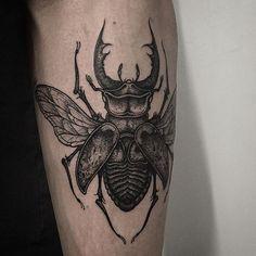 Stag beetle on forearm. Thanks again Ashley!
