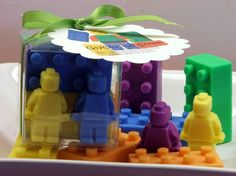 Building Blocks and Mini Men Action Figurine Soap Set Party Favor Boy Girl Adventure Birthday Soaps. $5.50, via Etsy.