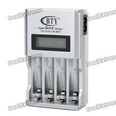 1.9 LCD AA / AAA Battery Charger - Silver