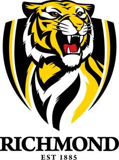 Tigers - Yellow n Black - Richmond Tigers Aussie Memes n yellow logo - Yellow Things Richmond Afl, Richmond Football Club, Bulldogs, Tiger Silhouette, Aussie Memes, Australian Football League, West Coast Eagles, Tiger Vector, Tiger Team