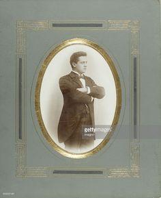 Young man with arms folded. Elbow. About 1900. Photograph by CM Rücker & F. Tack. Moravská Tebová.