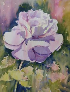 Loose Watercolour Floral Lesson: Rose by Joanne Thomas see it on ArtTutor now.