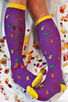 Socks By Sock Dreams » Socks » Sock It To Me Gummy Bear Knee Highs