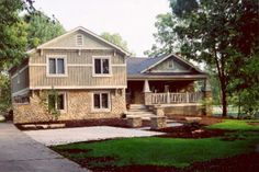 Carmel Indiana Exterior Make Over And Front Porch Addition Eileen Km Split Level Interior Remodel