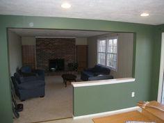Half wall between dining and living room | Living room | Pinterest ...