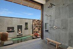 Salle de douche minimaliste à la deco zen