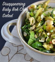 This simple salad comes together in minutes and is so delicious! Serve as a side or over rice to make it a larger meal. We also think this would be a great filling for potstickers.